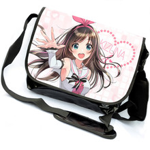 Virtual Youtuber Cosplay Schoolbag Kizuna AI Cartoon Canvas Students Messenger Bag Unisex Anime COS Crossbody Bags(China)