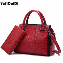 Luxury High PU Leather Crocodile pattern Women's Bags Famous Designer Large Shoulder Bags Purse And Handbags Soft Bolsos Mujer