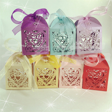 10Pcs/set Wedding Favors and Gifts for guests Love Heart Birthday Party Mariage Hollow Candy Boxes Decor