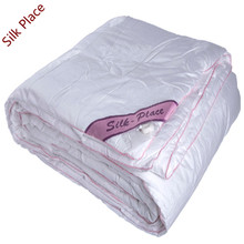 "Brand ""Silk Place"" Natural High-quality Silk Filled Quilt Russia Delivery White Natural Silk Comforter SP160-1000"