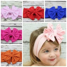Head wrap Blended cotton fabric Headwrap girl Big Bow Bunny Ears head band stretchy Turban Twist flower Hairband FD6542