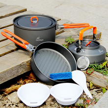 Fire Maple 2-3 Person Cutlery Set Medium Pot & Frying Pan & Tea Pot Hiking Camp Cook Set Tableware Tourism Feast 2 Free Shipping