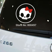 10 x Newest Design Car Styling Funny Reflective Skull Hello Kitty Fuel Tank Stickers for Tesla Volkswagen Renault Opel Lada