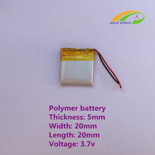 3.7V thium polymer battery / 502020 / 180MAH / Mickey MP3 / small toys / Bluetooth / electronic form