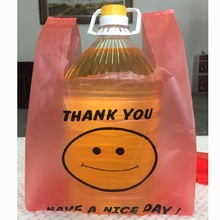 NEW red plastic shopping bag supermarket plastic bags clothing gift store market retail bag 25*42cm 1000pcs dhl free shipping