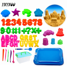 YNYNOO 3-20cm Dynamic Educational Sand clay Amazing DIY Indoor Magic Playing Sand Children Toys Mars Space magic Sand Mould