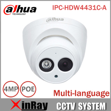 DaHua IP Camera IPC-HDW4431C-A POE Network Mini Dome Camera With Built-in Micro Full HD 1080P 4MP CCTV Camera