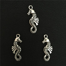 4pcs 25*10 mm Antique Silver Alloy Marine Organism Seahorse Charms Pendants Jewelry Findings DIY Handcraft Bracelet Accessories