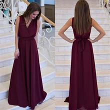 Buy Summer Women dress Sexy Long Party Dresses 2017 Sleeveless Elegant Casual Pleated Chiffon Maxi Dress for $14.60 in AliExpress store