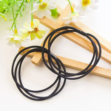 30Pcs Black Elastic Rubber Hair Accessorie Tie Gum Girls Women Ponytail Holders Hair Accessories Hairstyles Elastic Scrunchie(China)