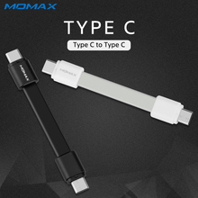 Momax Original Solid Short High Speed Type C to Type C Male Cable for Samsung Xiaomi Reversible Connector Mobile Phone Cable(China)