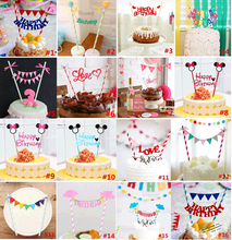 Mickey Minnie Mouse Cake Toppers Cupcake Wrappers Wedding Decoration Picks for Birthday Party Supplies Favors Baking