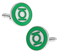 Promotion! Men Cufflinks wholesale&retail top copper Designer Green Lantern Brand Cuff links Fashion silver free shipping