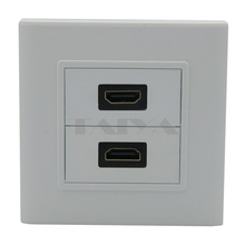 Dual ports HDMI wall plate with back side female to female connector