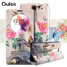 DULCII For LG G4c H525N Case Fragrant View Window PU Leather Flip Phone Case for LG Magna G4c H502F H500F H525N Cover Coque Capa(China)