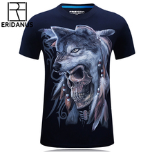 2016 Summer Men 3D Printed T-Shirt New Arrival Male O-Neck Loose Breathe Freely Absorb Sweat Cotton T Shirts M-6XL M165(China)