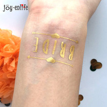 1pcs cute bride Temporary Tattoo bachelorette party accessories Bridesmaid bridal shower wedding decoration party favor