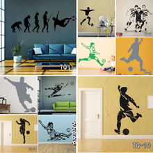 Football Player And Soccer Wall Art Decor Customized Wall Sticker For Kid's Boy Girl Room Fashion Sport Home Decor Vinyl Decals