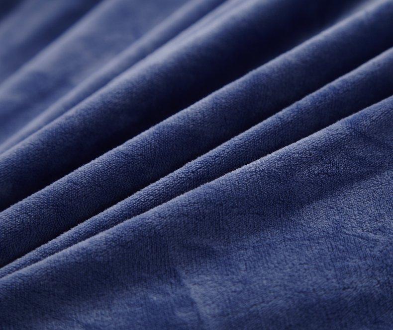 3Pcs Fleece Bed Skirt Set W/ Pillowcases, Mattress Protective Cover 45
