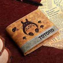 Anime My Neighbor Totoro PU Wallet/Totoro Short Purse With Button
