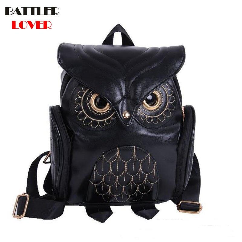Owl Shape Bag 2019 Womens Mochilas Backpack Women Bagpack Backpack Mochila Masculina Mujer Femme Bag Hombre School Backpacks Men