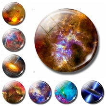 Colourful Nebula 30 MM Fridge Magnet Stars Macrocosm Galaxy Art Glass Dome Magnetic Refrigerator Stickers Note Holder Home Decor(China)