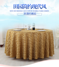 Hotel table cloth European simple restaurant table cloth living room table cloth round table cloth fabric