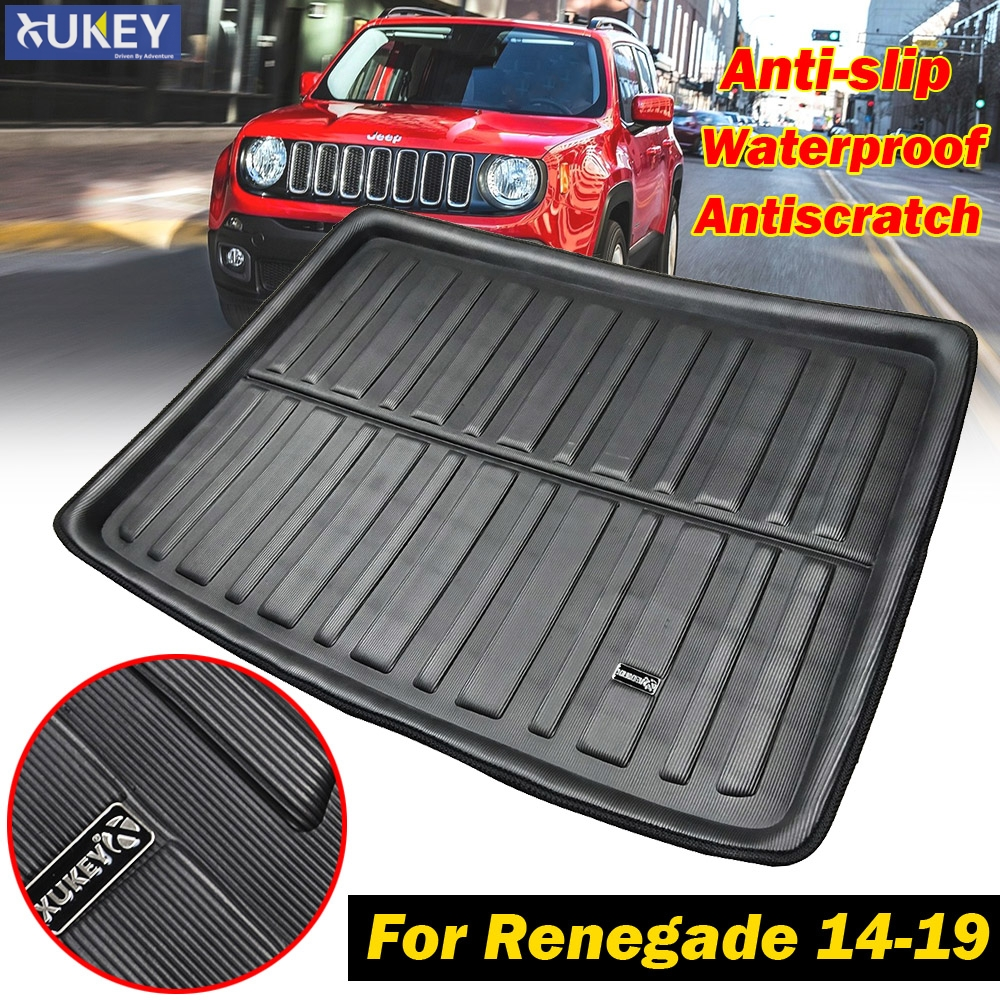Leather Car Mat Trunk Cargo Liner Mat Tray For Toyota Yaris Hatchback 2014-2019