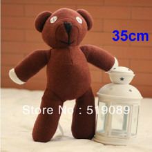 "Free Shipping 35cm=13.8"" Mr Bean Teddy Bear Animal Stuffed Plush Toy, Brown Figure Doll Christmas Gift Toys"