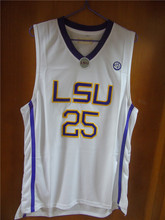 Aembotionen Ben Simmons #25 LSU White/Purple/Yellow Retro Throwback Stitched Basketball Jersey Sewn Camisa Embroidery Logos
