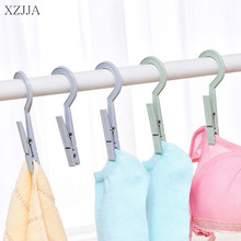 XZJJA 9Pcs Plastic Clothes Hooks Peg Travel Portable Hanging Clothes Rails Clips Home Clothespins Socks Underwear Drying Rack