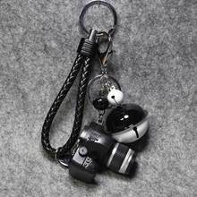 Fancy&Fantasy Camera Led Keychains With sound LED Flashlight Key Chain 4 Color Key Ring Amazing Gift Keychain K-173