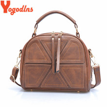 Yogodlns brand women crossbody bags for women shoulder messenger bags crocodile pattern artificial leather handbag with tassel(China)
