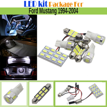 7 Pieces Car Interior LED Kit Package 5630 Chip LED Bulb White Auto Map Dome License Plate Light For Ford Mustang 1994-2004