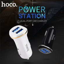 HOCO Car Charger Kit Set with Cable Micro-USB Cable Double Port for iPhone iPad Samsung Xiaomi Charging Adapter 2 USB 2.1A(Hong Kong)