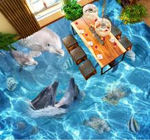 Custom photo floo wallpaper ocean world 3d floor wallpaper painting PVC self-adhesive waterproof floor wallpaper for wall