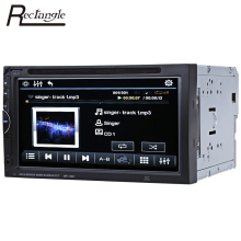 Rectangle 2 Din Car Video Player DVD 7'' Touch Screen Bluetooth Stereo Radio Car Audio Auto Electronics Support Rear View Camera