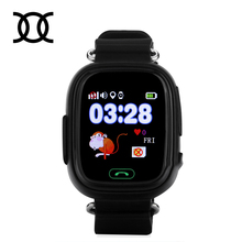 2017 Original Q90 GPS Phone Positioning Fashion Children Watch 1.22 Inch Color Touch Screen WIFI SOS Smart Watch PK Q80 Q50 Q60(China)