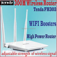 Eng-Firmware Tenda FH303 300Mbps Wireless Router 300M Wifi Repeater, 3* 5dBi Antennas, with Signal Boosters No Color Box, PROM5(China)