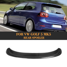 Carbon Fiber golf 5 ABT style car rear spoiler for VW auto roof wing for golf 5 Standard Bumper Non GTI