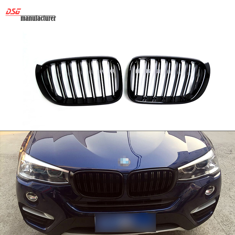 X3 X4 dual front kidney grill for BMW F25 LCI &amp; F26 easy installation great performance<br><br>Aliexpress