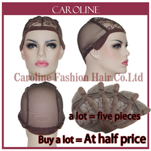 Good Cheap Lace Front Wig Caps For Making Wigs With Adjustable Strap Brown Weaving Cap Tools Hair Net & Hairnets Easycap 6044(China)