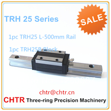 CHTR HIGH PRECISION MANUFACTORY PRICE CNC LINEAR GUIDE (1pc TRH25 L=500mm Linear Guide Rail with1 pc TRH25B Linear Carriage )