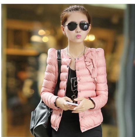 2017 Winter And Autumn Womens Short Section Cotton Padded Jacket Female Bow Decoration Thin Parkas Casual Coats Outwear J1497Одежда и ак�е��уары<br><br><br>Aliexpress
