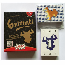 6 Nimmt Board Games English Verison Take 6 Cards Game Table Game Mathematical Educational Party Game For Family/Friends Meeting