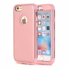 For iPhone 5/5C/5S/SE/6 6 Plus,iPod Touch 5/6,WEFOR 3-in-1 Impact Hard&Soft Silicone Hybrid Armor Phone Cases Full Protect Cover