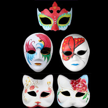 Easter DIY Mask Hand Painted Halloween White Face Mask Butterfly Blank Paper Masks Masquerade Cosplay party Decoration(China)