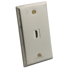 Stainless Steel Single Port HDMI wall plate