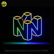 Ninten Neon Sign Decorate Game Room Real Glass Tube Neon Bulb Recreation Room Wall Indoor Frame Sign Store Wall Displays 17x14(China)