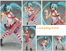 Hatsune Miku Action Figure 1/8 scale painted figure Greatest Idol Ver. Electric Guitar Miku Doll PVC ACGN figure Toy Brinquedos